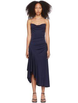 3.1 Phillip Lim Navy Asymmetrical Chain Strap Dress