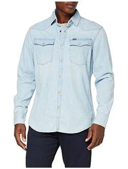 G-Star RAW Mens 3301 Slim Fit Denim Shirt