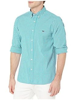 Vineyard Vines Men's Classic Fit Gingham Shirt in Stretch Cotton