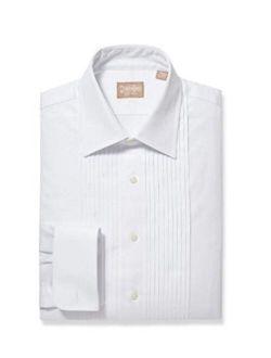 Gitman Ten Pleat 100% Cotton Spread Collar French Cuff Tuxedo Shirt