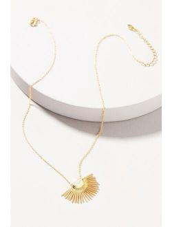 Collections by Joya Deco Moonstone Fan Pendant Necklace