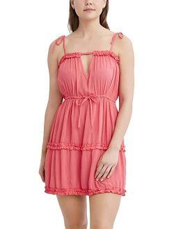 Rayon Adjusbale Sleeveless Cover-up Dress