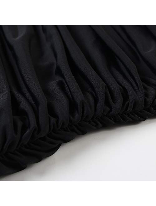 Rxrxcoco Nylon Plunging Neck With Halter Straps Adjustable Swimsuit