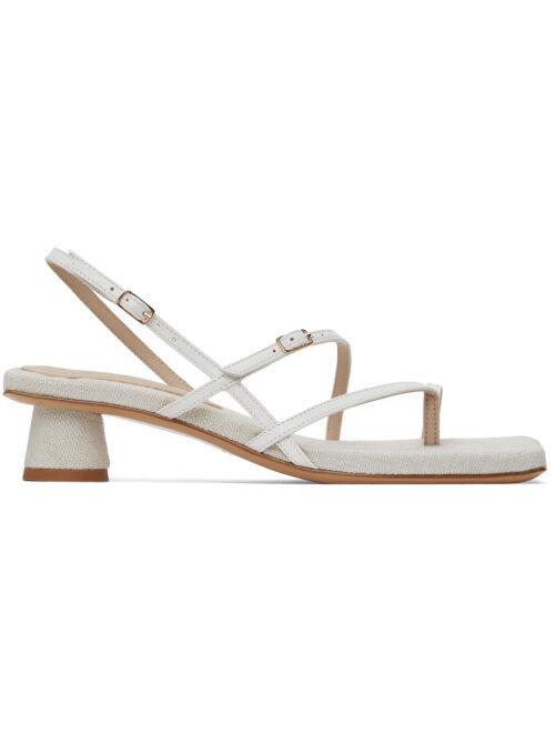 Jacquemus Off-White 'Les Sandales Basgia' Heeled Sandals