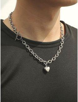Men Heart Charm Necklace