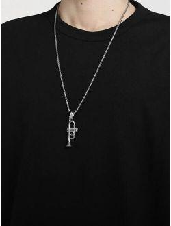 Men Musical Instrument  Pendant Necklace