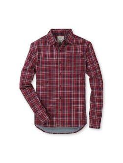 Hope & Henry Mens' Cotton Convertible Double Weave Button Down Shirt