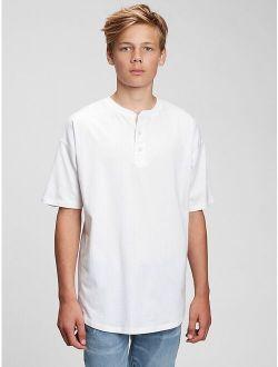 Teen 100% Organic Cotton Henley Shirt