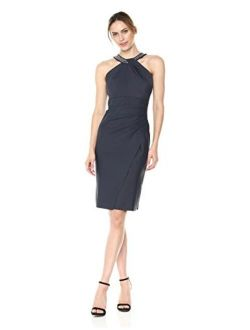 Women's Short Sheath Slimming Stretch Halter Neck Dress
