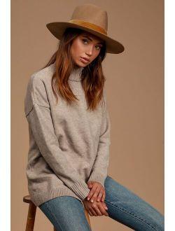 LACK OF COLOR Benson Tri Brown Wool Hat
