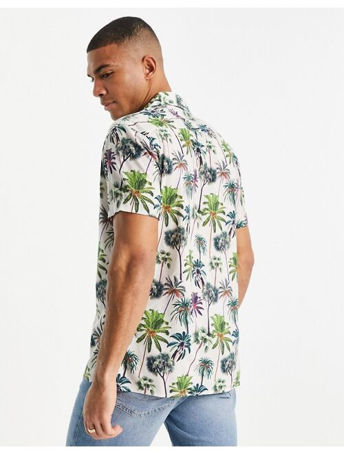 Selected Homme shirt in palm tree print