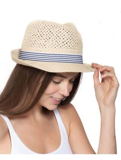 INC International Concepts Open-Braid Fedora, Created for Macy's