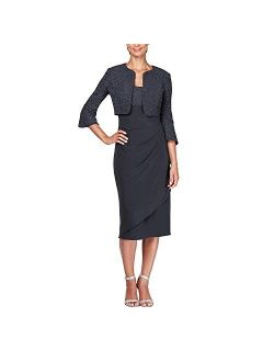 Women's Empire Waist Bolero Jacket Dress (petite Regular Plus Sizes)