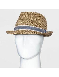 Or Fedora Hat With Navy Band - Goodfellow & Co™ Brown
