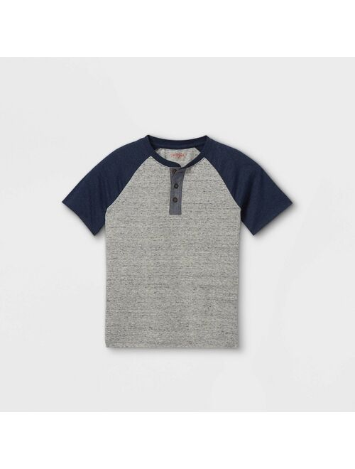 Boys' Short Sleeve Baseball Henley Shirt - Cat & Jack™