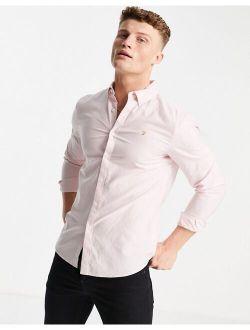 Farah Brewer slim fit organic cotton oxford shirt in pink