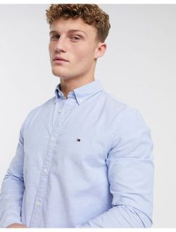 oxford shirt with stretch in slim fit in blue