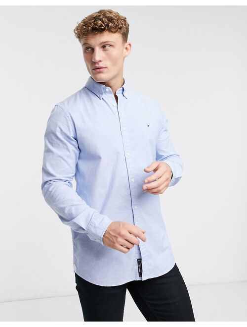 Tommy Hilfiger oxford shirt with stretch in slim fit in blue