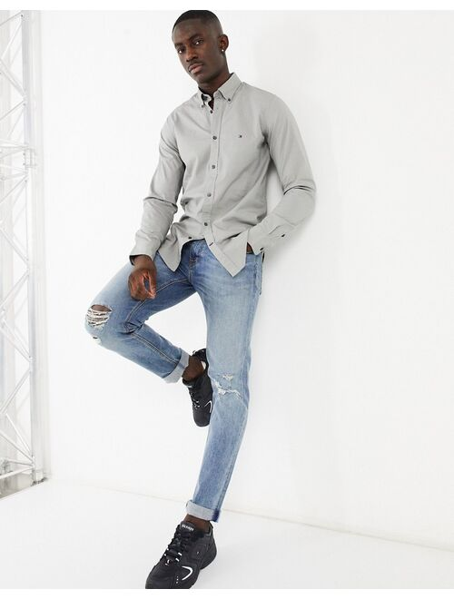Tommy Hilfiger skinny fit shirt in charcoal exclusive to ASOS