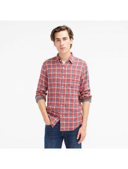 Slim lightweight double-weave shirt