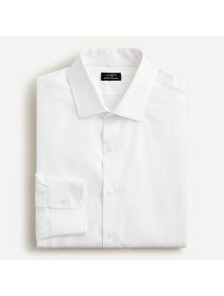 Slim-fit Ludlow Premium fine cotton dress shirt in dobby