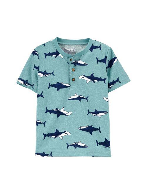 Toddler Boy Carter's Sharks Henley Top