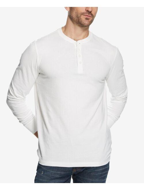 Weatherproof Vintage Men's Long Sleeve Brushed Jersey Henley T-shirt