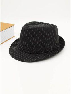 Men Striped Fedora Hat