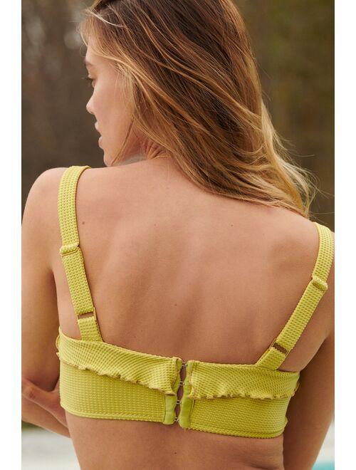 Revel Rey Sunshine Ruffled Bikini Top