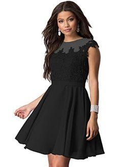 Noras dress Homecoming Dress Chiffon Short Prom Dresses Lace Appliques Cocktail Party Dress Sleeveless Party Gowns B075