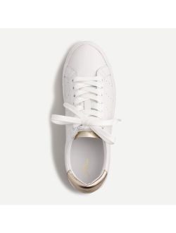 Saturday sneakers in leather with gold detail