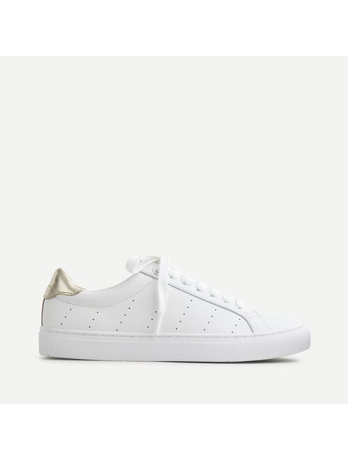 J.Crew Saturday sneakers in leather with gold detail