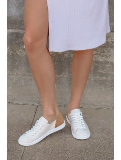 Schutz Cleo Light Nude Canvas Sneakers