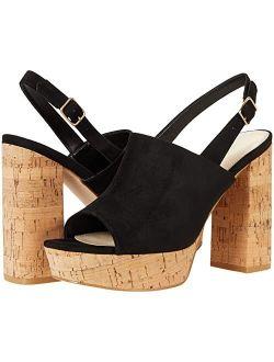 Block Crock Style Heel Open Toe With Side Buckle Closure Sandals