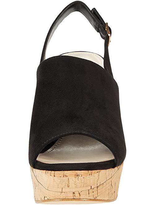 Guess Block Crock Style Heel Open Toe With Side Buckle Closure Sandals