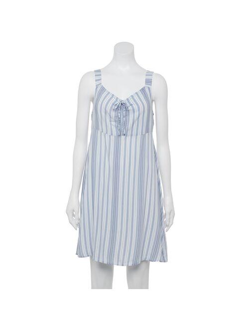 Juniors' SO® Ruched Elastic Strap Dress
