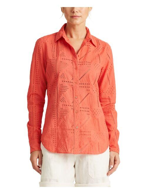 Polo Ralph Lauren Patch-Eyelet Cotton Shirt