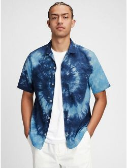 Tie-Dye Short Sleeve Resort Casual Shirt