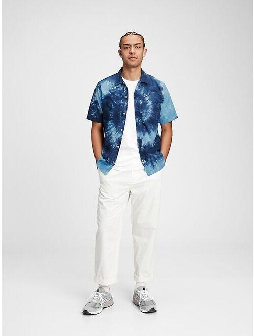 GAP Tie-Dye Short Sleeve Resort Casual Shirt