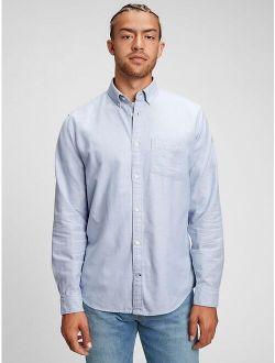 Oxford Long Sleeve Button Down Standard Fit Shirt