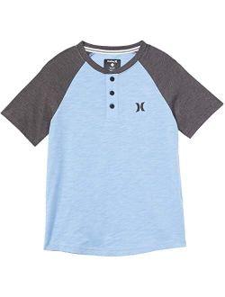 Hurley Kids Marled Raglan Short Sleeve T-Shirt (Big Kids)