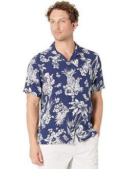 Classic Fit Printed Rayon Short Sleeve Shirt