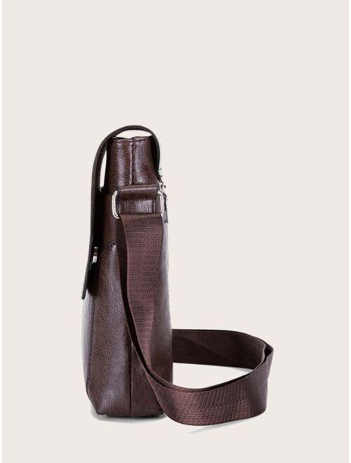 Shein Men Solid Messenger Bag