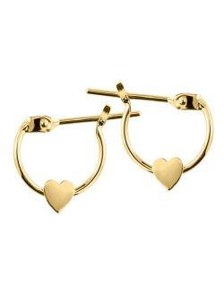 Macy's Children's Heart Earrings in 14k Yellow Gold