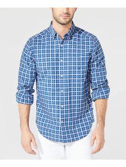 Blue Plaid Button-Up Casual Shirt