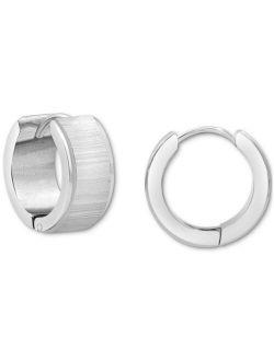 """Macy's Men's Small Huggie Hoop Earrings in Stainless Steel, 0.75"""""""