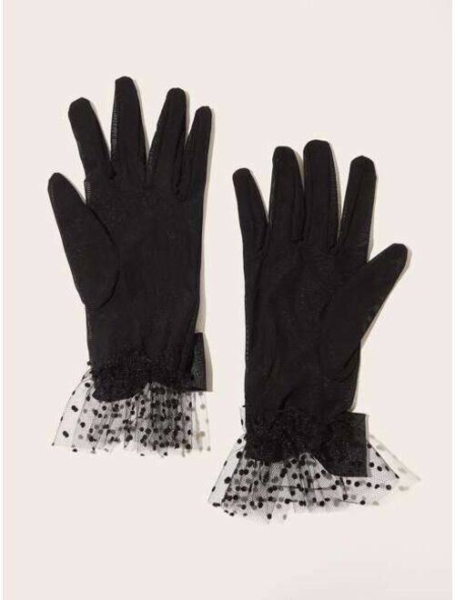 Shein Lace Bow Gloves