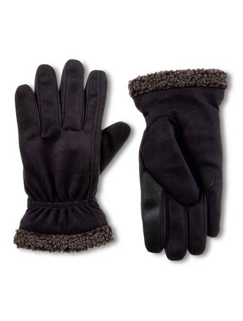 Men's isotoner Recycled Microsuede Berber Gloves with Touchscreen Technology