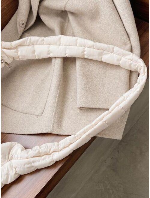 Shein Large Capacity Stitch Detail Hobo Bag