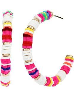 Bead Hoop Earrings